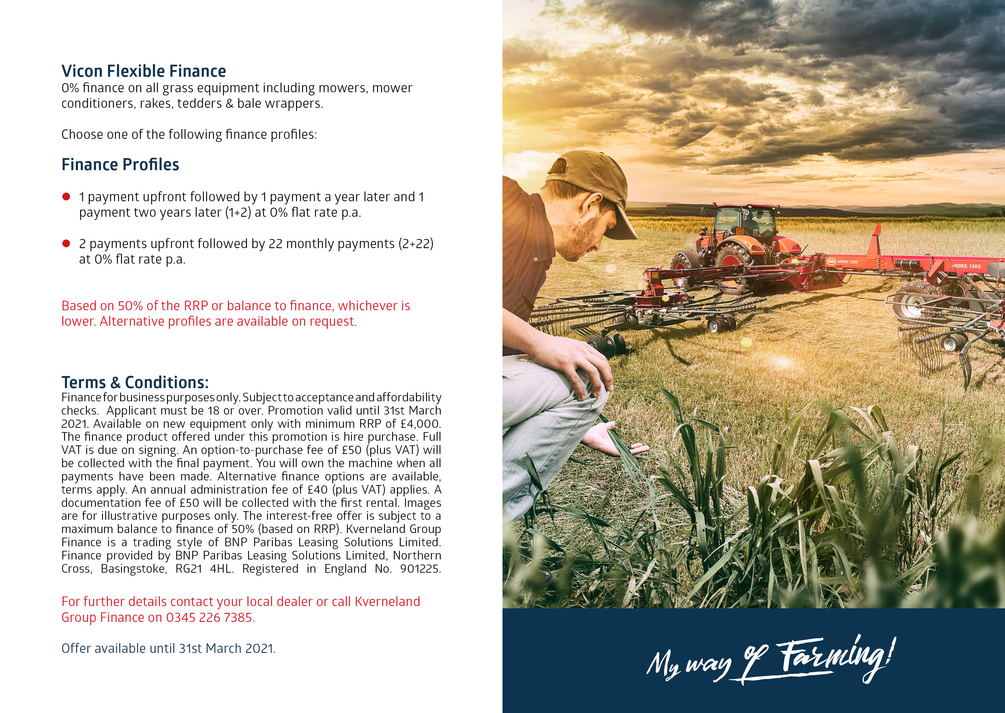 0% Vicon Grassland Machinery image