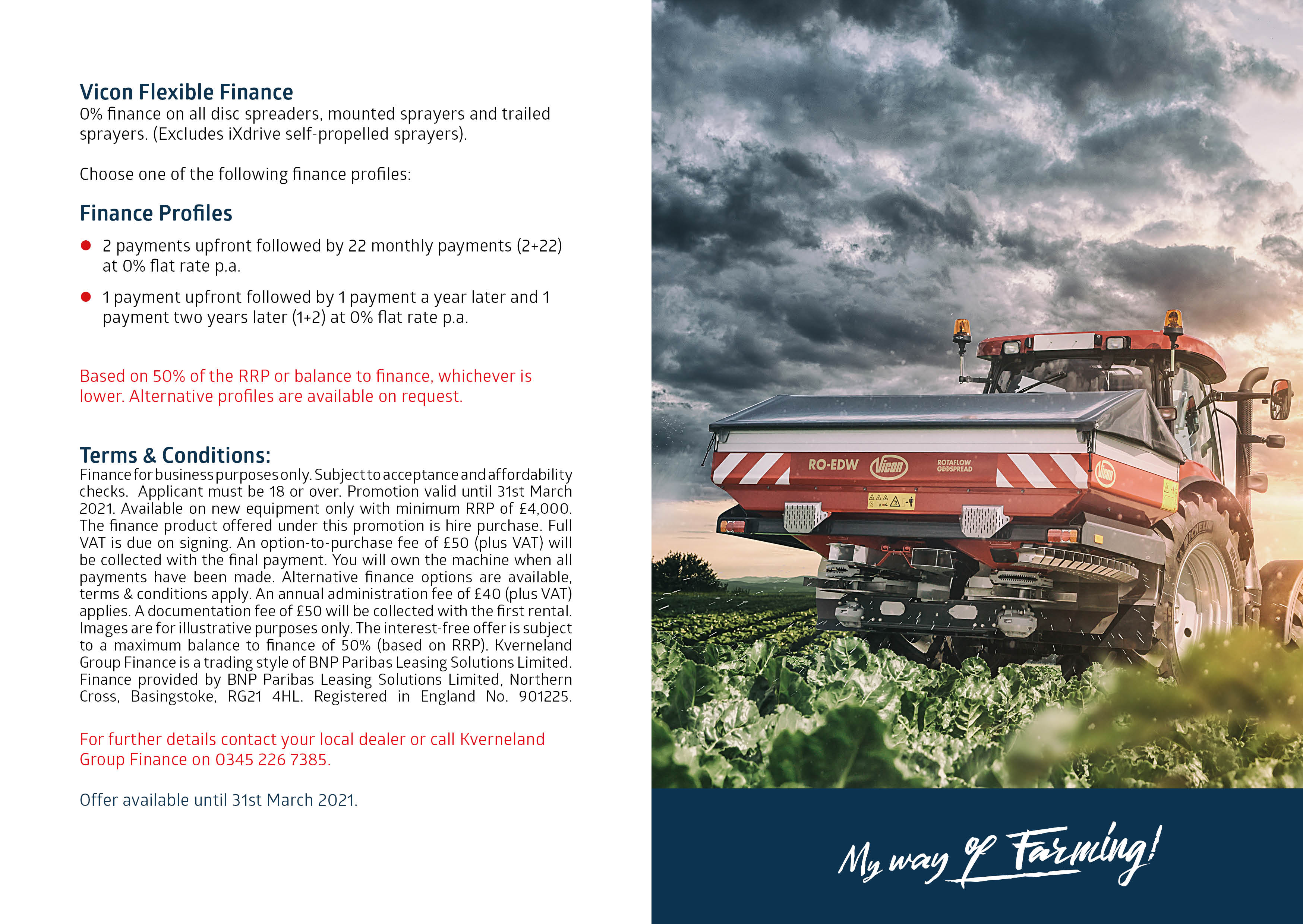 0% Vicon Spreaders and Sprayers Deal image